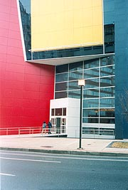 [photo, Reginald F. Lewis Museum of Maryland African-American History & Culture entrance, 830 East Pratt St., Baltimore, Maryland]